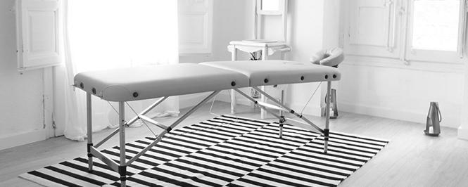 sala para terapias y masajes en Zaragoza